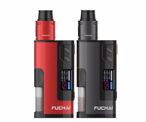 Newest!!! 100% Authentic Sigelei Fuchai Squonk 213 Kit 150W TC VW Box Mod Support 18650 21700 20700 Battery 5ml Empty Bottle RDA Atomizer
