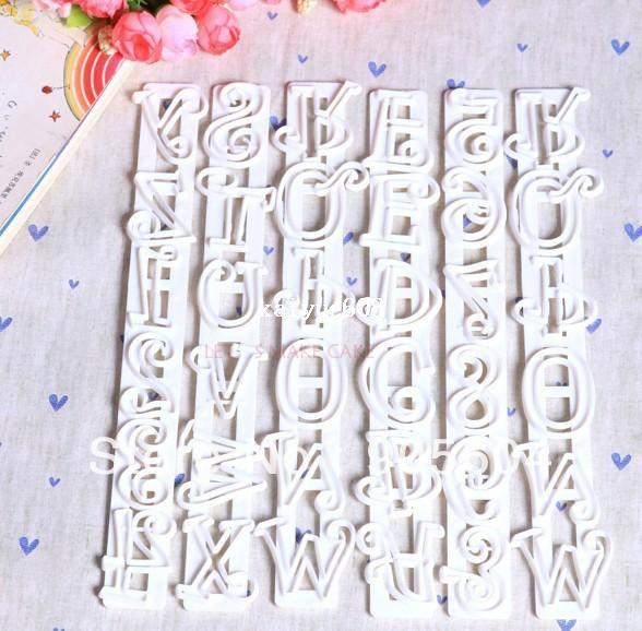 Çok satan! 6 Adet Numarası Mektuplar Yapıştır Fondan Fırfır Kenar Düz Frilling Kek Kesici Sakız Kek Dekorasyon Sanat Araçları
