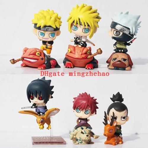 NEW hot 6pcs/set Naruto Action Figure Toys Uchiha Sasuke Uchiha Madara Q Version Anime pvc Figure Toys Dolls Model Kids Phone Accessories