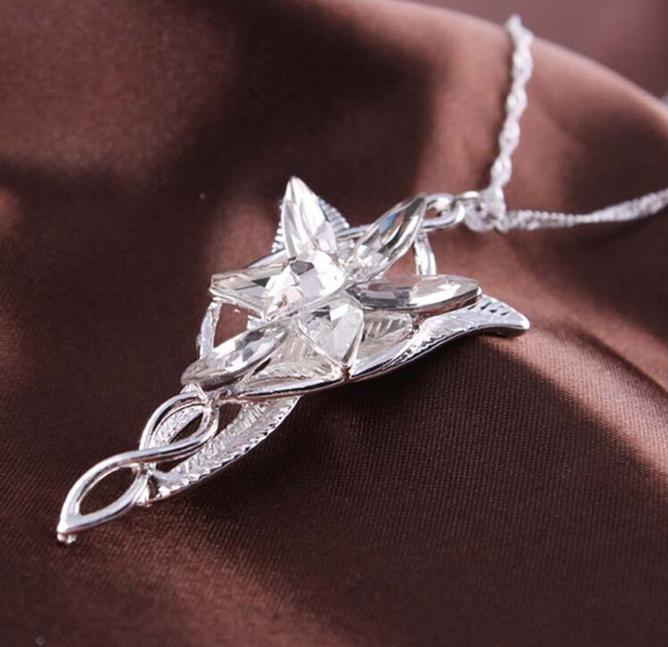 Wholesale hot movie jewelry lord of the rings hobbit elves princess hot movie jewelry lord of the rings hobbit elves princess aragorn arwen evenstar pendant twilight star aloadofball Gallery