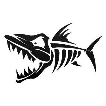 top popular car styling stickers skull fish 15 cm x 11cm car motorcycle applique waterproof vinyl decals for car truck 2019