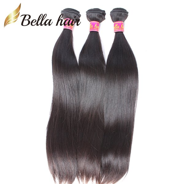 best selling Peruvian Virgin Human Hair Weaves Top Quality 9A Silky Straight Weaves Hair Extensions Double Weft Natural color Bellahair