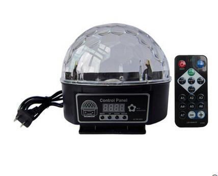 9 color acoustic stage lights led crystal magic ball seven lights flash lights KTV bar radium shoots the laser