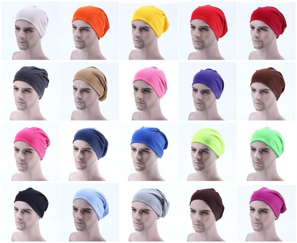 Fashion Unisex Men Candy Color Knitted Winter Warm Ski Crochet Slouch Hats For Women Cap Cotton Skullies Blends Beanie
