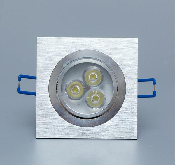 3w Square LED Downlight Light Ceiling Lamp AC 85-265V Pure white/Warm White Spot Lighting 2years Warranty