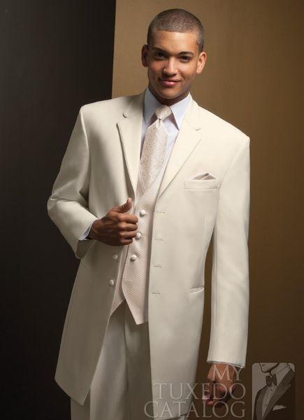 Extra Long White Groom Tuxedos Groomsmen 4 Buttons Men Wedding Suits Fine workmanship, exquisite workmanship (Jacket+Pants+Tie+Vest) Custo