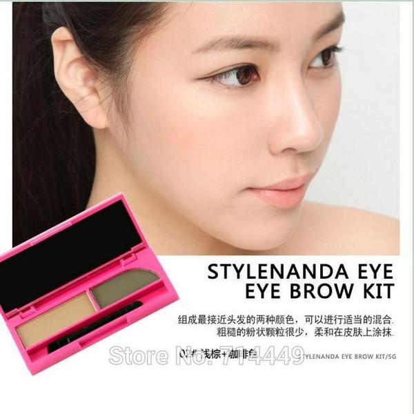 Coréia 3CE Dupla Cores 3 Montar Olho Marrom Pó à prova de Água-À Prova de Suor Long-Durável Natural Styling Ferramentas de Maquiagem Cosméticos