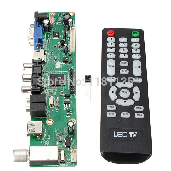 Универсальный ЖК-контроллер доска 1920*1080 разрешение ТВ материнская плата VGA/HDMI/AV/TV/USB HDMI интерфейс драйвер доска Бесплатная доставка
