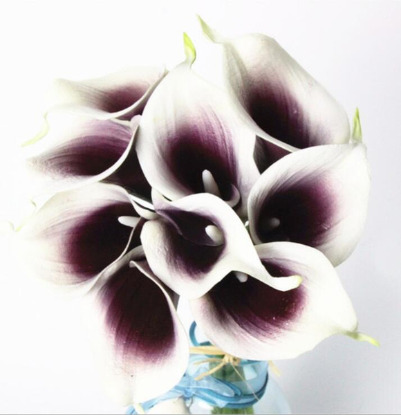 Mini Calla Lily For Wedding Bouquet Artificial Flower Real Touch For Home Wedding Party Free Shipping HP008