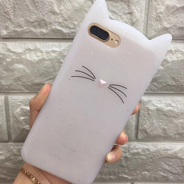 For iPhone X 7 8 Plus Case 3D Cute Cat Cute Silicone Soft Cover for Apple iPhone 6 6sPlus 5 5s SE New