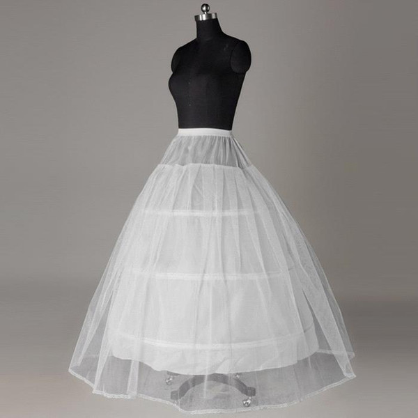 Best Selling One Layer Tulle Anáguas Crinolina vestido de Baile 3 Aros Tamanho Livre Petticoat Slip Vestido Underskirt Vestido De Noiva Petticoate