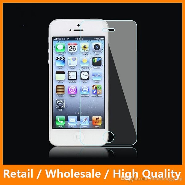 9H Hardness Clear 2.5D Scrathproof Premium Tempered Glass for iPhone5 5s Screen Protective Flim Newest
