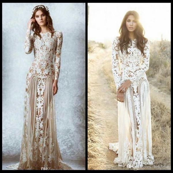 Discount 2015 Zuhair Murad Lace Vintage Wedding Dresses Custom Made ...