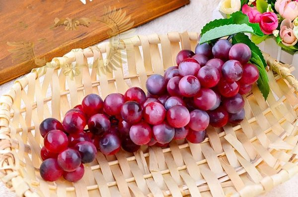 Novelty Idyllic Decorative Fruit Simulation Of Artificial Fruits Large Grapes For Home Decor Living Room Ornaments