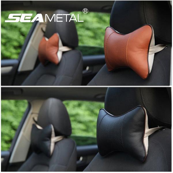 SEAMETAL 2pcs Car Headrest Seat Head Neck Rest Cushion Pillow Pad For Car  Soft Version Lovely