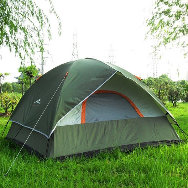 Wholesale- 3 Person 200*200*130cm Double Layer Weather Resistant Outdoor Camping Tent for Fishing, Hunting Adventure Family Party picnic