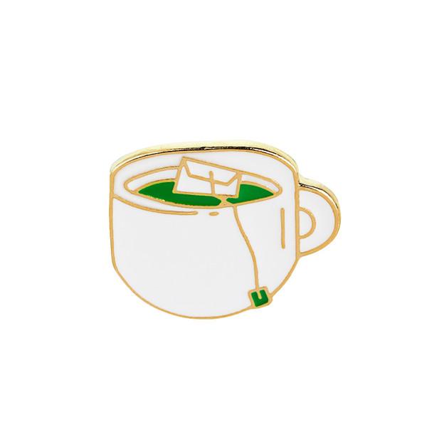 I Need My Space Cup of Coffee Badge Vintage Style Enamel Brooch Broach UK