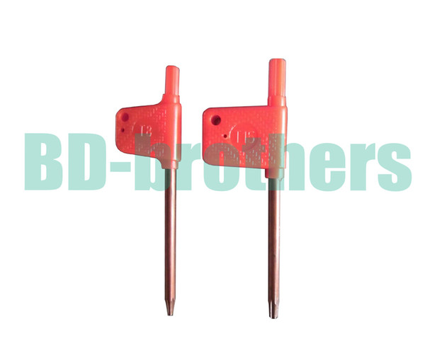 top popular T6 T7 T8 T9 T10 T15 T20 Torx Screwdriver Spanner Key Small Red Flag Screw Drivers Tools 2000pcs lot 2019