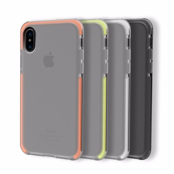 Original Rock For iPhone X Case Cover Elastic Soft TPU + Flexible TPE Hybrid Case for iPhoneX Cover Shockproof Protective Shield