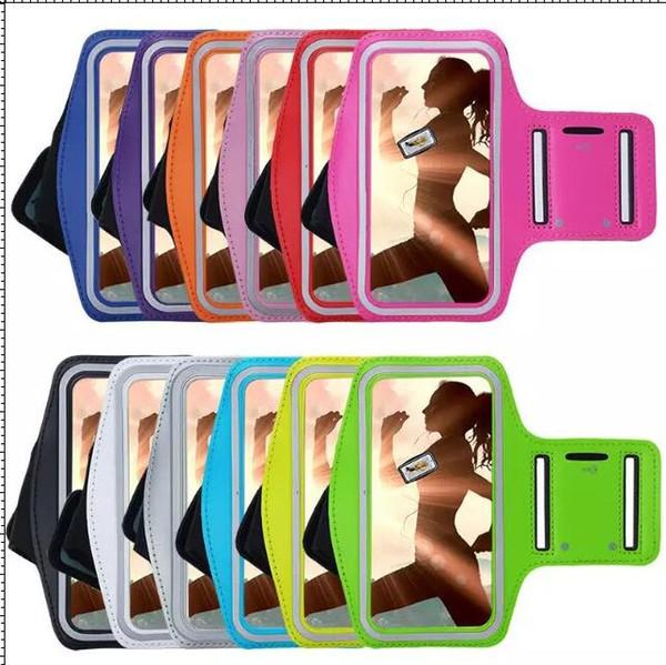 Braçadeira de luxo case à prova d 'água braço titular saco de corrida ginásio esporte para iphone 6 s 6 plus 4.7 5.5 5 5c 5g 5s 4g 4 4s ipod touch 4 5 6 manga pele