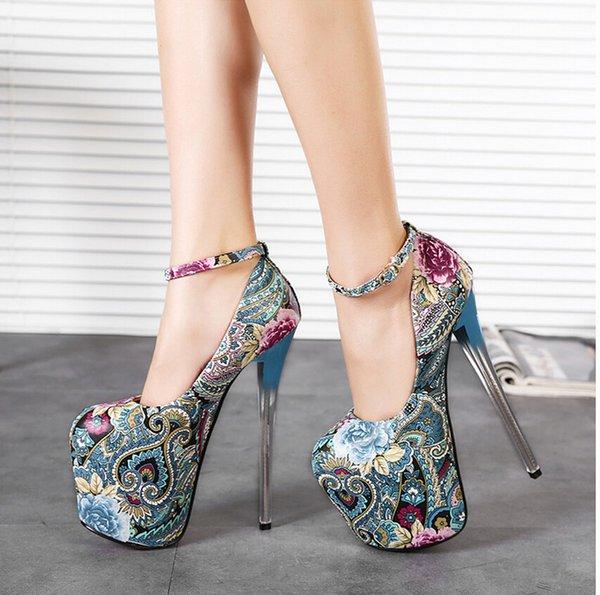 Zapatos De Tacon Grueso Con Vestido