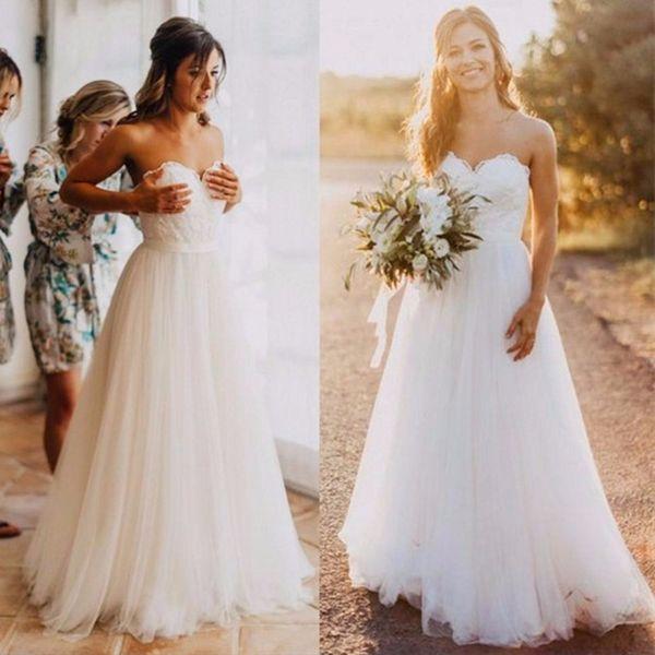 Богемные Свадебные Платья Дешевые 2018 Страна Милая Плюс Размер Свадебные Платья Линия На Заказ Vestido Де Нойва
