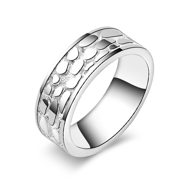 Free Shipping New 925 Sterling Silver fashion jewelry Trend Men fish scale ring hot sell girl gift 1483