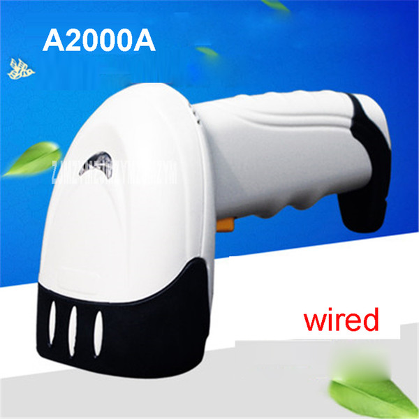 Wholesale- A2000A wired Scanner Laser Barcode Scanner Express Barcode Barcode Scanner Material ABS+PC Interface RS232, PS2 keyboard, USB