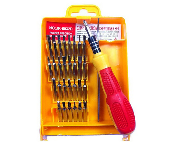 32 in 1 set Micro Pocket Precision Screwdriver Kit Magnetic Screwdriver cell phone tool repair box MA2