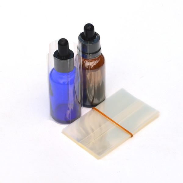 Tubo de la película del abrigo del encogimiento para las botellas del cuentagotas del líquido E de la botella de cristal de 30ml Calor del encogimiento del film de encogimiento del calor Envío libre