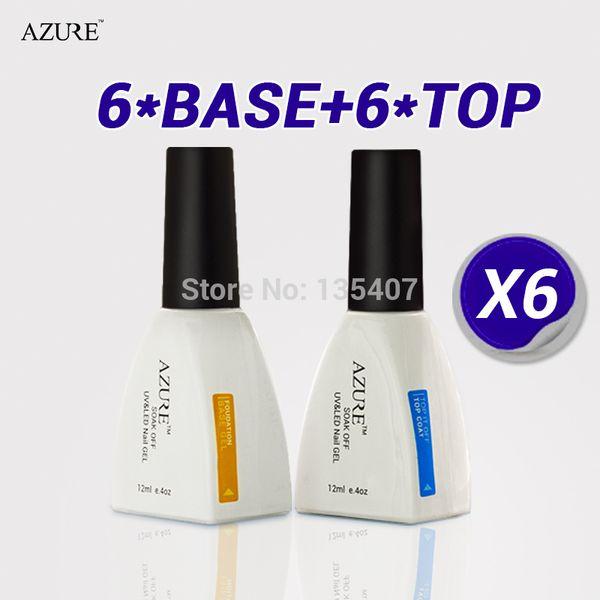 2015 new arrival Diamond new brand Azure Nail Gel Top Coat Base Coat Foundation for UV Gel Polish high quality free shipping