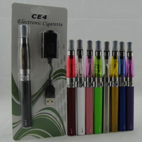 eGo Starter kits CE4 Vaporizador Cigarrillos electrónicos 650mah 900mah 1100mah EGO-T batería ce4 Atomizador Clearomizer tank vape blister kit
