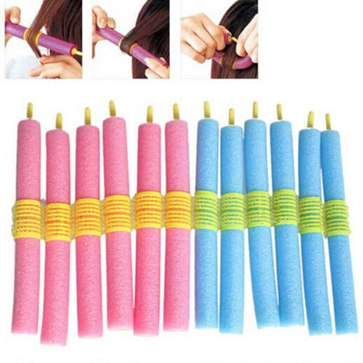 top popular New 12PCS Soft Hair Bendy Rollers DIY Magic Hair Curlers Tool Styling Rollers Sponge Hair Curling 2019