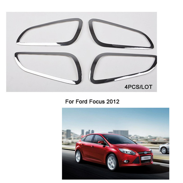 2012 2013 for Ford Focus 3 Stainless steel interior doors hand-clasping decoration ring 4pcs/lot,auto accessories