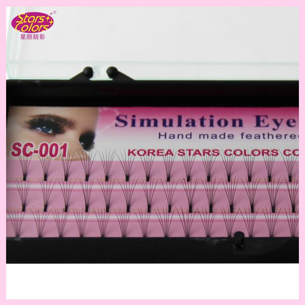 2015 Makeup fake Eyelash 0.10mm C Curl silk eye lash extensions Individual Lashes Planting Black natural single false eyelashes 8/10/12mm