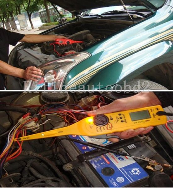 Multi-function Auto Circuit Tester Electricity Detector and Lighting 3 in 1with manual