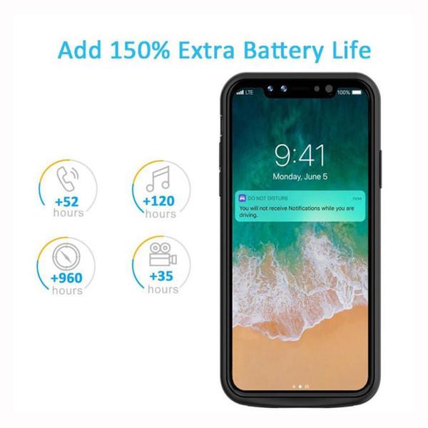 Para iphone x bateria case 2017 mais novo super ultra-fino 6000 mah tampa do carregador de backup inteligente banco de potência para iphone x carregador case