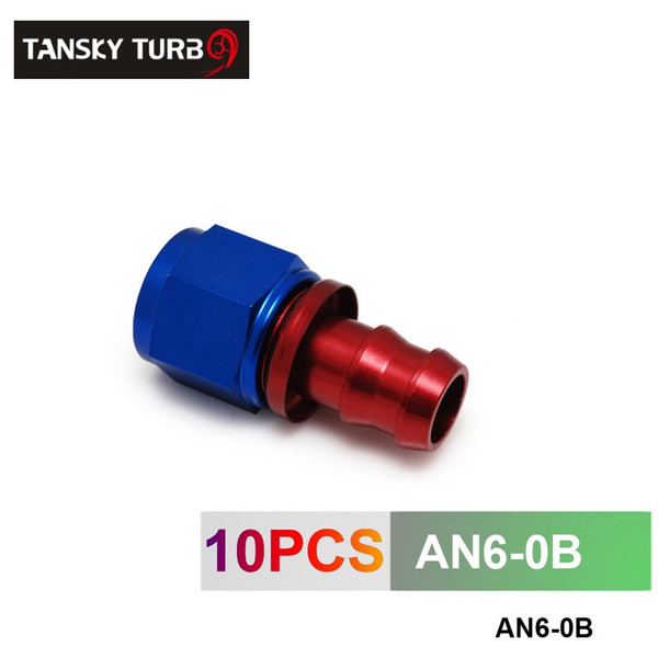 TANSKY - 6AN AN6 6-AN STRAIGHT SWIVEL OIL/FUEL/GAS LINE HOSE END PUSH-ON MALE FITTING AN6-0B
