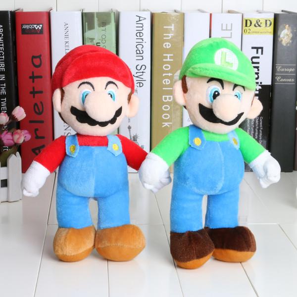 Free Shipping New Super Mario Bros. Stand LUIGI Plush Doll Stuffed Toy 10