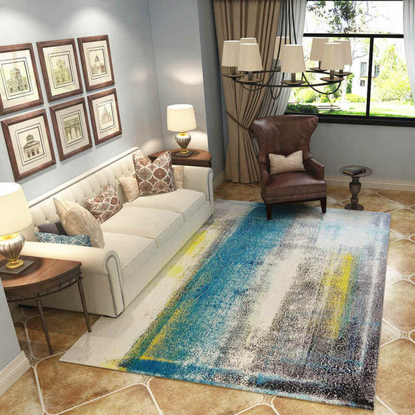 Europe Parlor Carpets Bedroom Area Rugs Washable Mat Abstract Rectangle  Carpet Living Room Art Decoration Carpets Laying Carpet Lees Carpet From ...