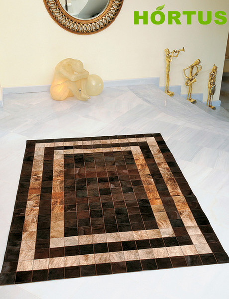 Natural Colors Genuine Cow Leather Rug