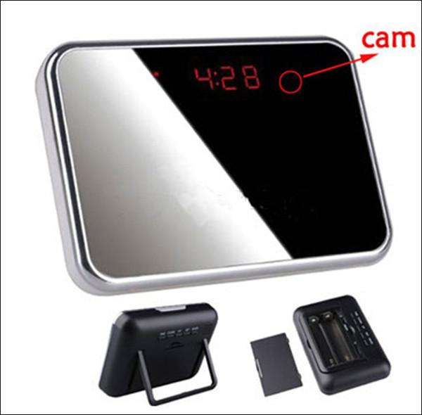 Free shipping V7 Digital Alarm Clock Mini DV DVR Camcorder HD 1280*960P Video recorder Camera Web Camera motion detection