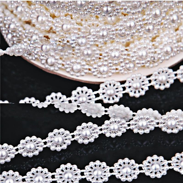 25m Connection Line Pearl Beads Chain Garland Flowers Wedding Party Decoration Party Bouquet Clothing Supplies