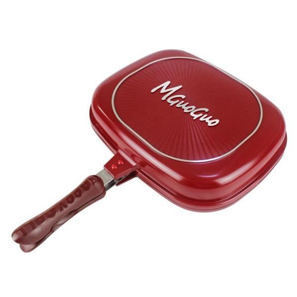 Bratpfanne Double Sided Antihaft Rote Pfannen Für Küche Kochwerkzeug Durable Heißer Verkauf 80 wl C R