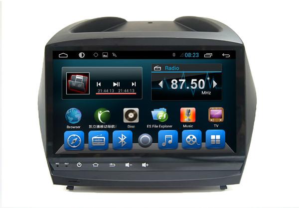 Système de navigation Dvd Android pour 2 voitures Hyundai IX35 Multimédia central Bluetooth Stéréo RDS Radio 2009 2010 2011 2012 2013