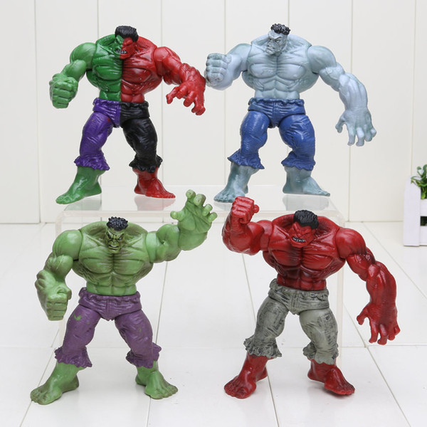 12cm Avenger 2 Hulk 4 different Universe Compound Red Grey Green PVC Action Figure Toys in bag