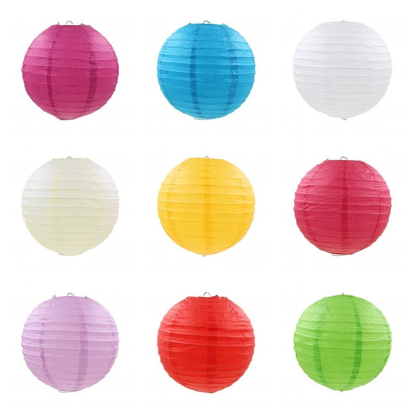 top popular Mid Autumn Festival Paper Lanterns For Wedding Birthday Festival Party Decoration Lantern Chinese Style Many Colors 7 41pt8 C RZ 2021