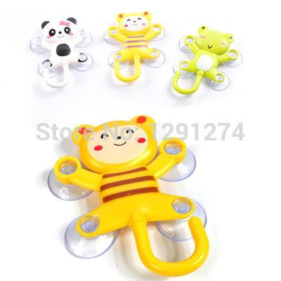 Wholesale- Novelty Kitchen Bathroom Kit Suction Cup Interesting animal pattern not falling Hanger Hook Mirror Glass Wall Cartoon FreeShip