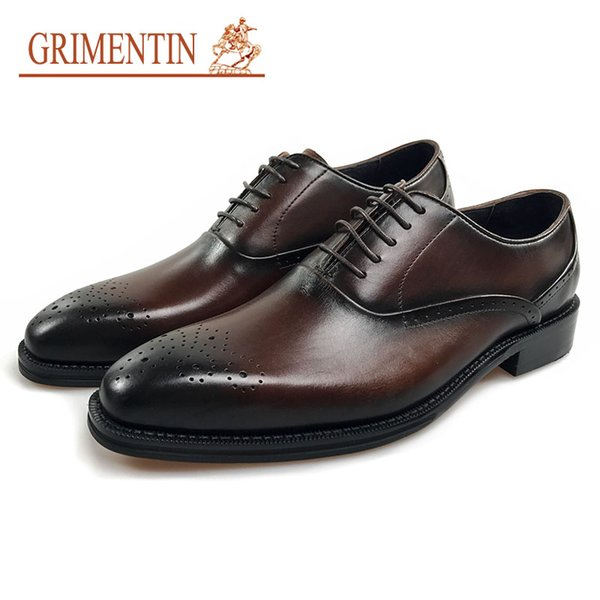 GRIMENTIN Hot sale Italian brand men oxford shoes fashion designer dress mens leather shoes hot sale formal business wedding male shoes JM