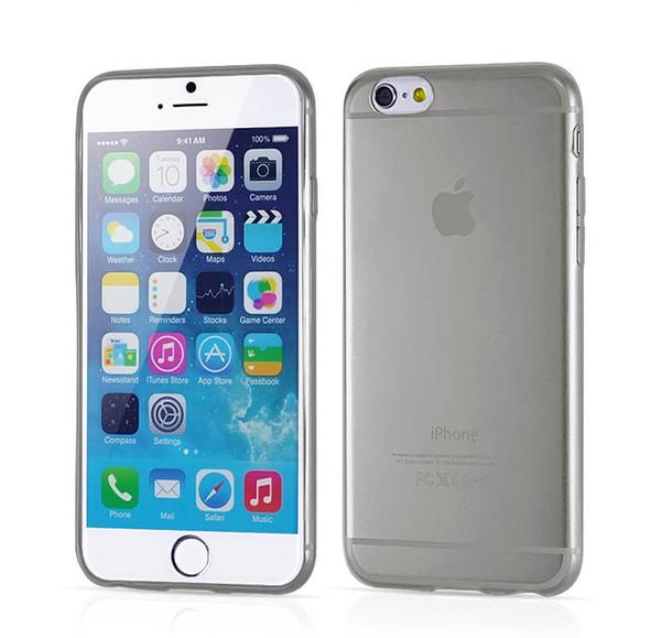 Şeffaf TPU jel Crystal Clear 0.3mm Ultra İnce yumuşak silikon telefon kılıfları iphone 6 S iphone 6 için Arka Kapak artı